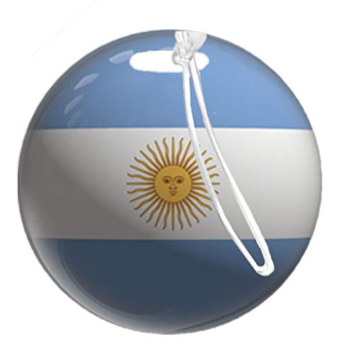Luggage by Bag Tag Country Flag Argentina by TYD Designs Glossy Fiberglass Reinforced Plastic Two Sided 4 Inches Wide with Plastic Worm Loop