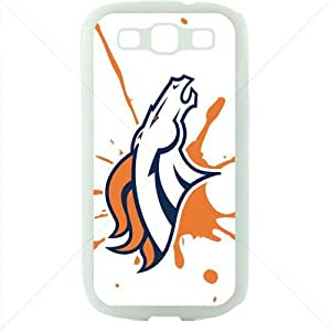 NFL American football Denver Broncos Fans Samsung Galaxy S3 SIII I9300 TPU Soft Black or White case (White)