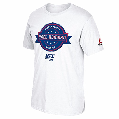 "Yoel Romero UFC Reebok White ""The Badge"" Graphic Print T-Shirt For Men – DiZiSports Store"