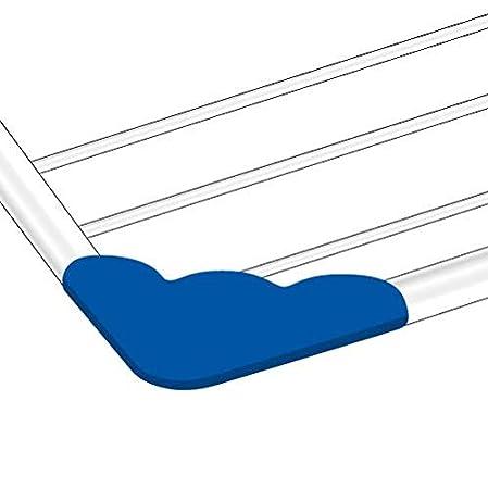 Acciaio//Resina Gimi Brezza 100 Stendibiancheria da Balcone 110 x 56 x 28 cm Spazio di Stenditura 10 m Stendino Estensibile Bianco