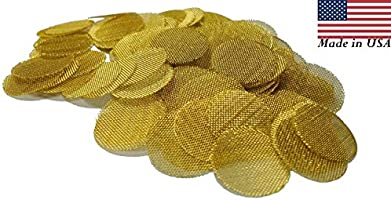 """100  Brass Pipe Screens 3//4/"""" for Smoking Pipes Made in USA  Free Shipping"""