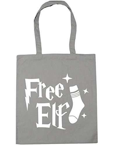 10 Elf Light Shopping litres 42cm x38cm Beach Grey HippoWarehouse Tote Gym Bag Free TzPqH
