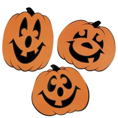 Halloween Jack-O-Lantern Silhouettes Pkg/24 ()
