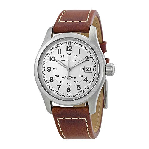 (Hamilton Khaki Field Silver Dial Mens Watch H70455553)