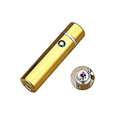 Novelty Wares 6 Colors Innovative Flameless Plasma X Beam Lighter - Rechargeable - Restructured - Pipes - Bowls - Cigars - Windproof Waterproof- Neon | Blue | Gun Metal | Black | Gold | Wood from Novelty Wares LLC