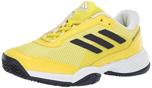 4b6c8de9ff8a9 adidas Barricade Club Xj Tennis Shoe Shock Yellow Legend Ink White 1 M US  Big Kid