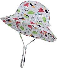 Baby Sun Hat Adjustable UPF 50+ Wide Brim Toddler boy Girl Kids Bucket Hat Cap