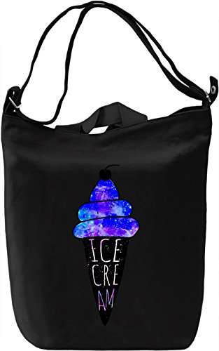 Blue Cosmic Ice Cream Borsa Giornaliera Canvas Canvas Day Bag| 100% Premium Cotton Canvas| DTG Printing|