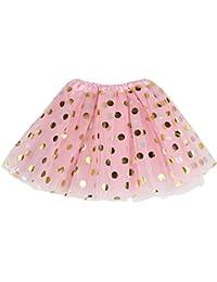 Baby Girls' Polka Dot Tutu Glitter Ballet Triple Layer Tulle Dance Skirt