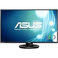 ASUS VN279Q - LED monitor - 27 - 1920 x 1080 FullHD - A-MVA+ - 300 cd/m2 - 100000000:1 (dynamic) - 5 ms - HDMI, VGA, DisplayPort - speakers - black