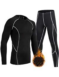 Boys Girls Athletic Base Layers Compression Leggings and Long Sleeve Shirts Set