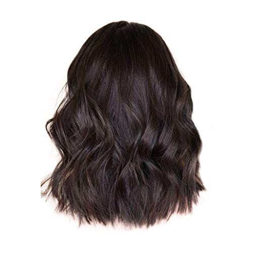 Clearance Sale!DEESEE(TM)Brazilian Less Lace Front Full Wig Bob Wave Brown Natural Looking Women Wigs ()