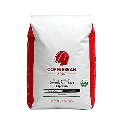 Coffee Bean Direct Espresso Whole Bean Coffee, 5 Pound