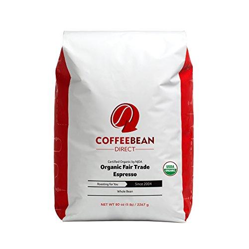 Organic Fair Trade Espresso, Whole Bean Coffee, 5-Pound Bag (Whole Bean Coffee Expresso compare prices)