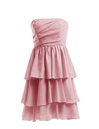 Dresstells Strapless Short Chiffon Homecoming Dresses Bridesmaid Dresses Short Prom Dresses Blush Size 6
