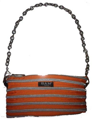 BAM Bags Women's Isabela Bag Nylon Tangerine & Silver One Size - Bam Bags Handbag