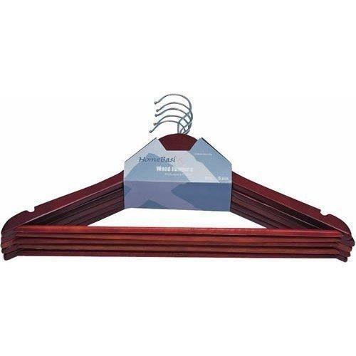 New HomeBasix Case of Sixty (60) Wood Mahogany Heavy Duty Clothes Hangers