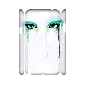ALICASE Hard case Watercolor 3D Diy For Samsung Galaxy Note 2 N7100 [Pattern-1]