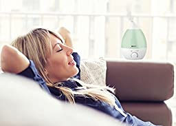Ultrasonic Cool Mist Humidifier, Aroma Oil Diffuser, Anti Mold Premium Humidifying Unit, Whisper Quiet Operation, 2.8 L Automatic Shut-off, 7 Color LED Night Light Function.