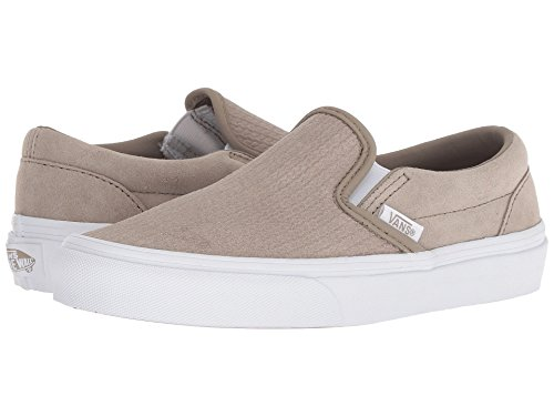 Vans Classic Slip?On (Suede) Unisex Womens Skateboarding-Shoes VN-0A38F7U7P_7 - Desert Taupe/Emboss