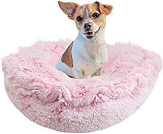 """product image for BESSIE AND BARNIE Ultra Plush Bubble Gum Deluxe Shag Dog/Pet Lily Pod Bed - 24"""""""