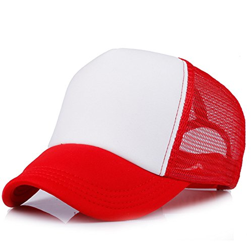YXTech Baby Boys Girls Children Toddler Infant Cap Hat Peaked Baseball Hats Beret Kids Cap (red white)