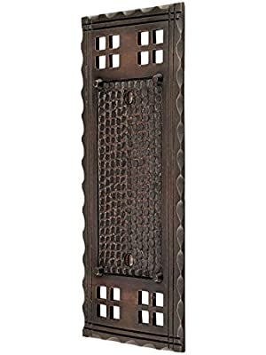 Arts and Crafts Single Blank Switch Plate in an Oil-Rubbed Bronze Finish