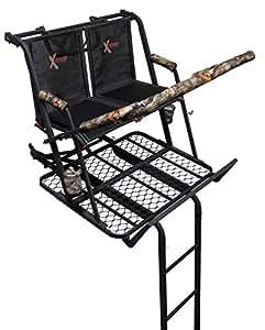 X-Stand Treestands The Jayhawk Ladderstand The Jayhawk 20' Two-Person Ladderstand Hunting Tree Stand, Black