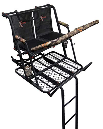 X-Stand Treestands The Jayhawk Ladderstand The Jayhawk 20' Two-Person Ladderstand Hunting Tree Stand, Black (Best Hunting Tree Stand)