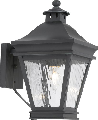 Elk Lighting Landings 1-light Water Glass Outdoor Wall Lantern, Charcoal