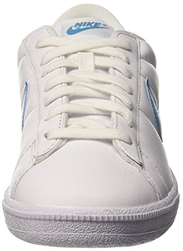 NIKE Herren Tennis Classic Leder Fashion Sneaker Weiß Blau