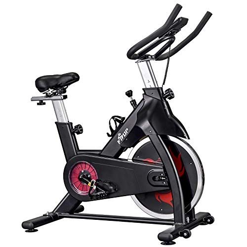 FISUP Exercise Bike 440 LBS Capacity Indoor Cycling Bike Stationary Fitness Bicycle Home Cardio Workout Training