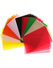 50 Sheets Colored Translucent Vellum Papers for DIY Craft Drawing Cardmaking