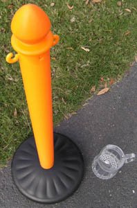 Heavy Duty Plastic Stanchions 4 Pack (Barrier Water Filled)