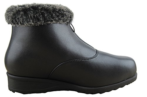 Comfy Moda Women's Winter Snow Boots London (10, Black) by Comfy Moda (Image #2)