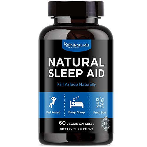 Sleep Aid - Sleeping Pills with Valerian Root Chamomile - Insomnia Relief Non-Habit Forming - Melatonin for Adults Made in USA - Natural Sleep Supplement Drug Free (60 capsules)