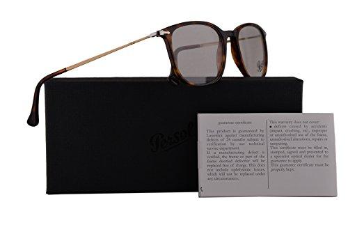 Persol PO3146V Eyeglasses 53-19-140 Havana w/Demo Clear Lens 24 PO3146-V PO 3146-V PO - Persol Frame Clear