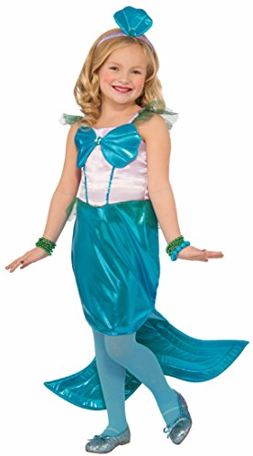 [Forum Novelties Kids Aquaria The Mermaid Costume, Blue, Large] (Ariel Blue Dress Costumes)