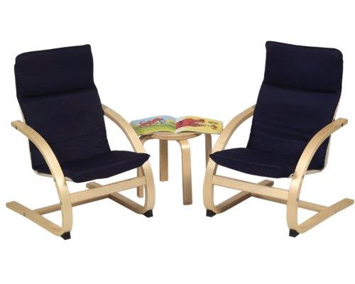 (Guidecraft Kiddie Rocker Chair Set - Blue)