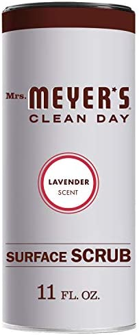 Mrs. Meyer`s Clean Day Surface Scrub Removes grime on Kitchen and Bathroom Surfaces Non Scratching Powder Lemon Verbena 11 oz