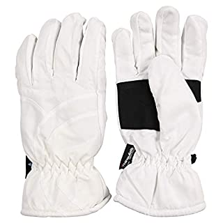 Urban Boundaries Womens/Girls Warm Winter Waterproof Thinsulate Snow Gloves (White, Large) (B009PI8JFQ) | Amazon price tracker / tracking, Amazon price history charts, Amazon price watches, Amazon price drop alerts