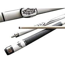 Champion Sp-r Snake Leather Skin Maple Pool Cue, Black or White Pool Cue Case, Billiards Glove! (58 Inch, 19 Oz)
