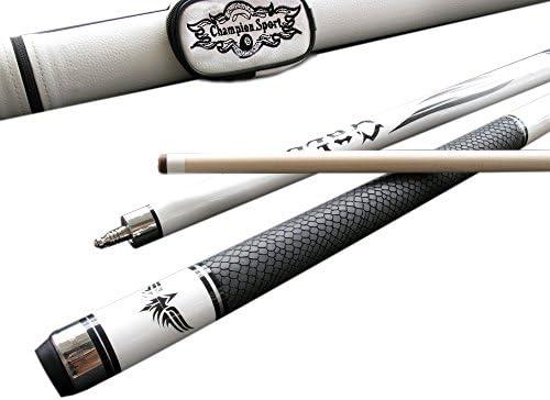 Champion SP-R piel de serpiente Piel Arce taco de billar + negro o blanco Fury Cue Case + guante de billar., 147,32 cm: Amazon.es: Deportes y aire libre