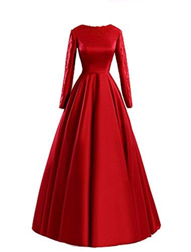 emmani Lange Kleid Rot Party Kleid Trägerlos Kleid Abend Damen rUw6BqEzr