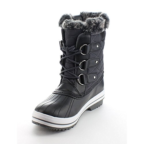 Studs Lace Da Up 01 Grey Booties Waterproof Wind Women's Quilted Viccino Snow Winter TnXXqgx0