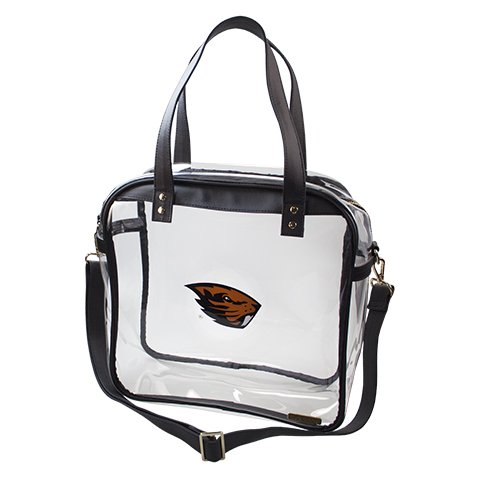 Oregon State University Beavers Capri Designs Clearly Fashion Licensed Clear Carryall Tote Meets Stadium Requirements by CLEARLY FASHION