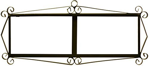 Black iron frame for easy wall hanging for tiles MOSAICO MEDIANO and FLOR MEDIANO designs (Frame for 6 TILES) 14.76 '' x 6.50 ''