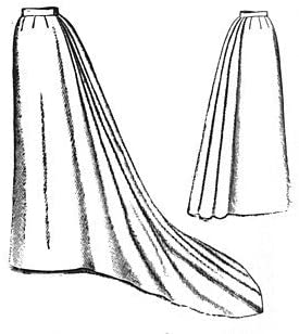 Guide to Victorian Civil War Costumes on a Budget 1892 Umbrella Skirt with Train Pattern                               $15.40 AT vintagedancer.com