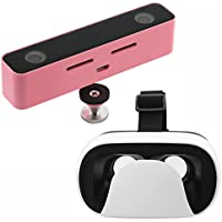 SVPRO VR 3D HD Viewer Stereo Camera Digital Professional Megapixel Dual Spherical Lens with Pink Aluminum Hard Surface for Android Phone (kit, pink)