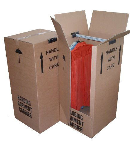 5 x Large Strong Wardrobe / Garment Double Wall Removal Boxes
